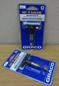 Lot Of 2 Graco 413 Rac Iv Switch Tip Reversible Spray Tip 221413 Nib