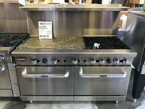 Heavy 60 Range 36 Griddle 4 Burners 2 Full Ovens Stove Natural Gas