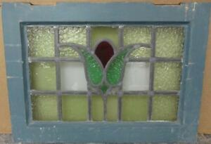 Old English Leaded Stained Glass Window Stunning Bordered Floral 20 75 X 15