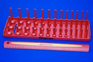 New Snap On Red 3 8 Sae Post Three Row Socket Tray Ka383frrd Ships Free