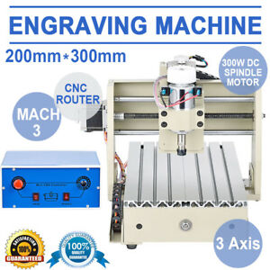 3 Axis Cnc Router 300w 3020 Engraving Engraver Wood Milling Drilling 3d Machine