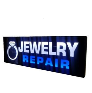 Jewelry Repair Sign led Light Box Sign 12x36x 1 75 Inch