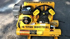 Titan Heavy Duty Commercial Industrial Gas Operat 5 5 Hp 8 Gal Air Compressor