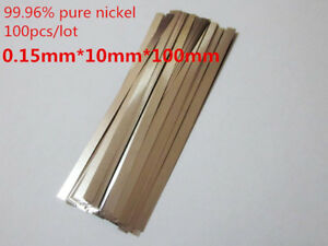 100pc 0 15x10x100mm Pure Nickel Plate 99 96 Strap Strips Sheet For Battery Weld
