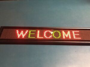 Programmable Led Scrolling Sign 16 X 128 4 75mm Pixel Red green yellow D16128a