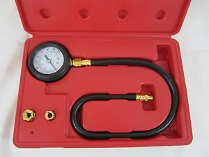 Oil Pressure Tester Gauge Engine Diagnostic Test Kit Adapters Case 0 100psi New