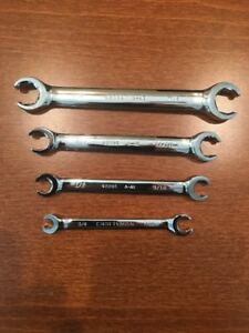 Craftsman 4 Piece Professional Full Polish Standard Flare Nut Wrench Set New