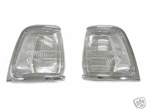 Depo New Pair Clear Chrome Front Corner Lights For 1989 1991 Toyota Pickup 2wd