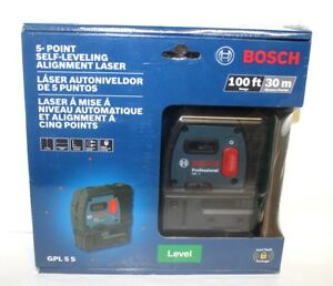 Bosch Gpl 5s 5 Point Self leveling Plum And Square Alignment Laser