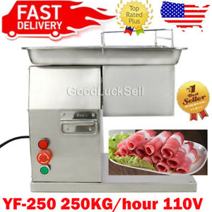 110v Meat Cutting Machine Meat Cutter Slicer 250kg Output With One Set Blade Usa
