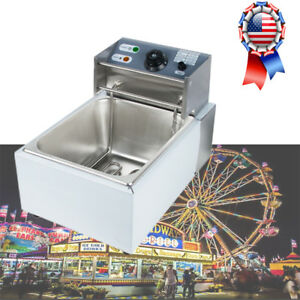 2500w 5 5l Commercial Electric Fry Stainless Electric Basket Deep Fryer Us Stock
