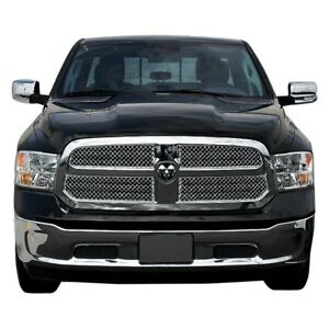 For Ram 1500 2013 2018 Ses Trims Abs429 4 pc Chrome Mesh Main Grille