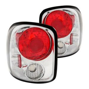 For Chevy Silverado 1500 1999 2004 Anzo 211026 Chrome Red Euro Tail Lights