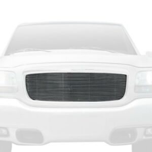 For Cadillac Escalade 99 00 T rex 1 pc Polished Horizontal Billet Main Grille