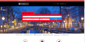 Turnkey Super Profitable Travel Booking Website Business Free Domain
