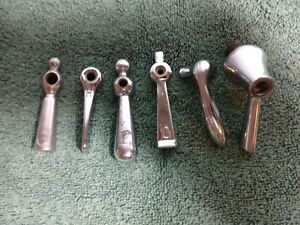 6 Vintage Chrome Faucet Handles Various Cold And Hot
