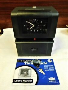 Heavy Duty Lathem Industrial Time Clock Model 4001 With Key