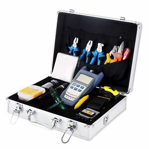 Zoostliss Ftth Fiber Optic Tool Kit With Optical Power Meter 70 To 10dbm And