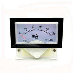 85c17 Dc0 100ma Class2 5 Analog Panel Gauge Amperemeter Analog Voltmeter