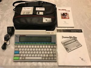 Nts Dreamwriter T100 Word Processor Computer Users Manual Ac Adapter Carry Bag
