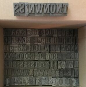 Vintage Metal Letterpress Type 84 Craw Cond Approx 23 Lbs Complete A z 1 0