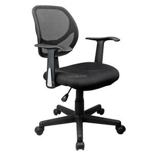 Ergonomic Mesh Office Chair Mid back Armrest height Adjustable 360 Castors Us