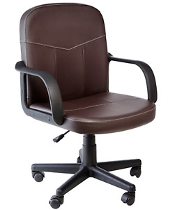 Comfort Products 60 238108 Bonded Leather Mid back Office Chair Brown