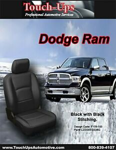 2013 2018 Dodge Ram Crew Cab Katzkin Black Leather Seat Covers Kit 3 Piece Jump