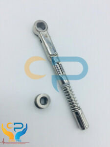 Universal Dental Implant Torque Wrench Ratchet 10 50 Ncm 6 35mm Hex 4 0mm