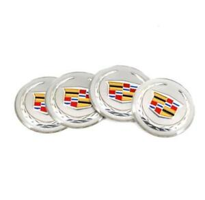 4pcs 55mm Car Wheel Center Hub Caps Emblem Badge Decals Sticker For Ats Ct6 Cts