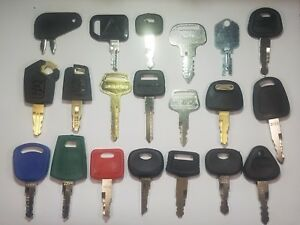 20 Heavy Equipment Keys Cat volvo hitachi john Deere jcb Komatsu kobelco case