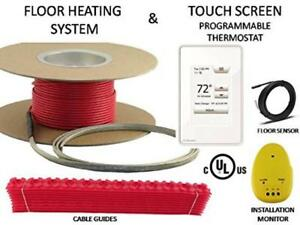 45 Sqft Warming Systems 120 V Electric Tile Radiant Floor Heating Cable With