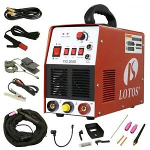 Lotos Tig stick Tig200 dc Welder 200amp With Pedal Inverter Power Welding