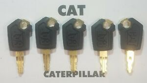 5 Master Cat Keys Caterpillar Heavy Equipment Ignition Key 5p8500 Excavator