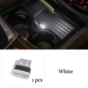 White Mini Usb Led Car Interior Light Neon Atmosphere Ambient Lamp Accessories
