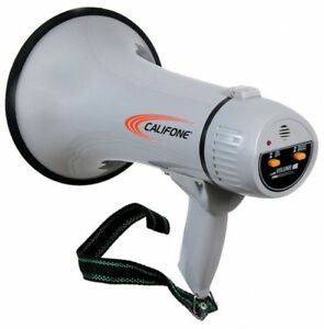Califone Pa 15 Megaphone With Built in Siren 15 Watts Rms 20w Max Power Output