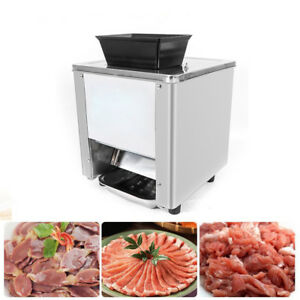 7mm Cutting Blade Commercial Grade Electric Meat Cutting Machine 120kg h Kitchen