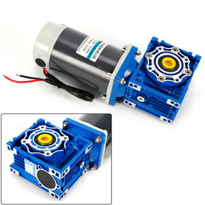Dc 12v 24v Gearmotor Rv40 Worm Gear Motor Speed Adjustable Cw Ccw Shaft Dia 18mm