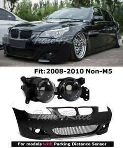 08 10 Bmw E60 5 series With Pdc M5 Style Front Bumper Cover Clear Fog Lights