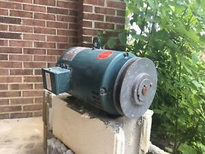 Leeson Electric Corportation Electric Motor 5 Hp 3 Phase Alternating Current