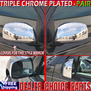 For 2005 2018 Nissan Frontier Xterra Triple Chrome Mirror Covers Non Towing