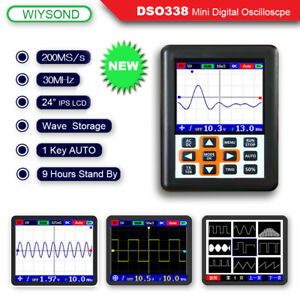 O120 Dso338 Nano Pro 30mhz 200msa s Mini Portable Ips Lcd Digital Oscilloscope
