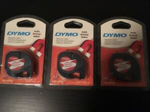 3 New Packs Dym19435 Dymo Letratag Magnetic Label Tape Cassette Refill