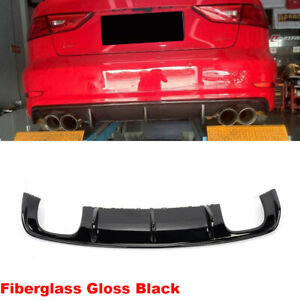 Frp Auto Racing Rear Bumper Diffuser Lower Lip Quad Outlet Fit For Audi S3 13 16