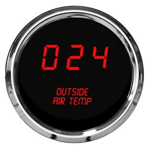 Intellitronix 2 1 16 Led Digital Outside Air Temperature Gauge Red 0 250 F