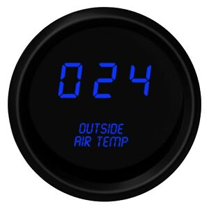 Intellitronix 2 1 16 Led Digital Outside Air Temperature Gauge Blue 0 250 F
