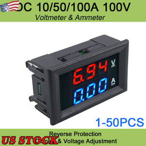 Digital Red Led Voltage Meter Blue Digital Ammeter Dual Amp Gauge Low Volt Meter