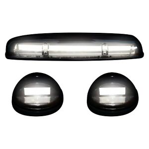 For Chevy Silverado 3500 02 06 Oled Bar Style Black Smoke Led Cab Roof Lights