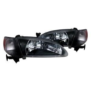 For Toyota Corolla 1998 2000 Cg 02 az to98 set b a Black Euro Headlights