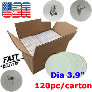 Usa Stock 120pcs Dia 3 9 Round Sublimation Blank Glass Coaster Tempered Glass